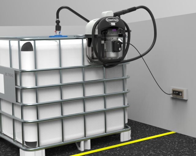 GreenChem AdBlue4You 1000Liters IBC with electrical pump.